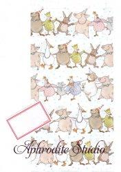 クリマ&イザ 紙袋 長型封筒 ラベルシールつき 『動物たちのダンス』Krima & Isa 1枚 バラ売り ギフトバッグ