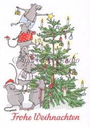 クリマ&イザ ポストカード 『クリスマスツリー』Krima & Isa 葉書 ハガキ カード