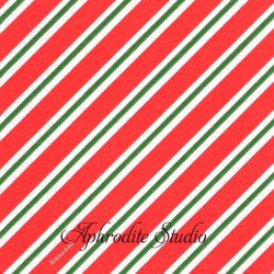 クリマ&イザ 斜めシャツストライプ レッド クリスマス 1枚 バラ売り 33cm ペーパーナプキン デコパージュ用 紙ナプキン Krima & Isa