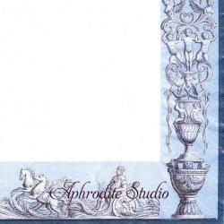 日本初入荷 北欧 廃盤 スカンセン レリーフ 装飾模様 1枚 バラ売り 33cm ペーパーナプキン デコパージュ用 紙ナプキン SKANSEN
