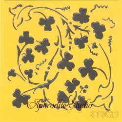【クローバー】 ステンシルシート♪ 16cm角 テンプレート エンボス ITD Collection