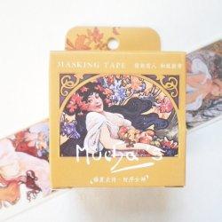 マスキングテープ 【女神】アルフォンス・ミュシャ 40mmx 7m