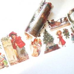 マスキングテープ 【ヴィンテージ・クリスマス】ヴィクトリアン 100mmx 5m
