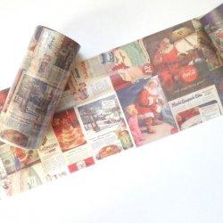 マスキングテープ 【コラージュ ヴィンテージ・クリスマス】ヴィクトリアン 100mmx 5m