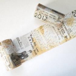 マスキングテープ 【古く汚れた新聞コラージュ】ヴィクトリアン 80mmx 8m