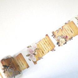 マスキングテープ 【巻物の手紙と花】ヴィクトリアン 60mmx 5m