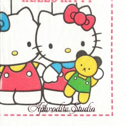 【アウトレット】廃盤 ハロー!キティ カラフルバルーン  キャラクター 1枚 バラ売り 33cm ペーパーナプキン デコパージュ Sanrio