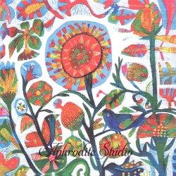 Quito 版画 青い鳥と花 Este MacLeod 1枚 バラ売り 33cm ペーパーナプキン デコパージュ用 紙ナプキン ppd