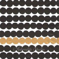 25cm 1パック20枚 北欧 マリメッコ RASYMATTO ゴールド 1枚 バラ売り ペーパーナプキン デコパージュ marimekko