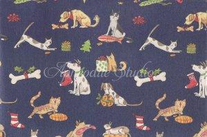 包装紙 アニタ・ジェラーム Cats and Dogs Anita Jeram ラッピング クラフトペーパー1枚