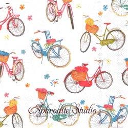 BICYCLE カラフル自転車 1枚 バラ売り 33cm ペーパーナプキン Ihr