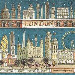 エマ・ブリッジウォーター LONDON AT NIGHT ロンドンの夜に Emma Bridgewater 1枚 バラ売り 33cm ペーパーナプキン Ihr