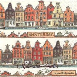 エマ・ブリッジウォーター AMSTERDAM アムステルダム Emma Bridgewater 1枚 バラ売り 33cm ペーパーナプキン Ihr