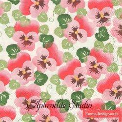 エマ・ブリッジウォーター PINK PANSY ピンクのパンジー Emma Bridgewater 1枚 バラ売り 33cm ペーパーナプキン Ihr