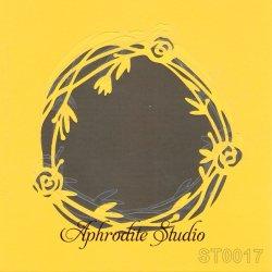 【お花のリース】 ステンシルシート♪ 16cm角 テンプレート エンボス ITD Collection