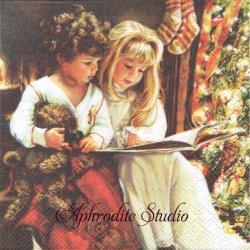 BEDSTORY ベッドで読む物語 クリスマス 1枚 バラ売り 33cm ペーパーナプキン Ambiente