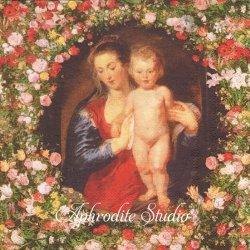 MADDONA AND CHILD 聖母と幼子イエス ルーベンス クリスマス 1枚 バラ売り 33cm ペーパーナプキン Ihr