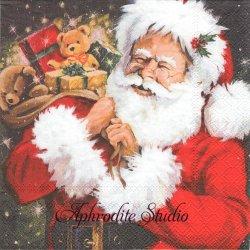 SORTING GIFTS サンタクロースのプレゼント クリスマス 1枚 バラ売り 33cm ペーパーナプキン Ambiente
