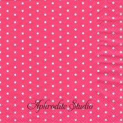 Mini Dots ベリーピンク ドット 水玉 1枚 バラ売り 33cm ペーパーナプキン デコパージュ HOME FASHION