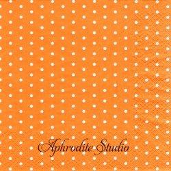 Mini Dots オレンジ ドット 水玉 1枚 バラ売り 33cm ペーパーナプキン デコパージュ HOME FASHION