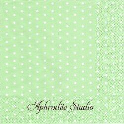 Mini Dots パステルグリーン ドット 水玉 1枚 バラ売り 33cm ペーパーナプキン デコパージュ HOME FASHION