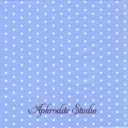 Mini Dots ライトブルー ドット 水玉 1枚 バラ売り 33cm ペーパーナプキン デコパージュ HOME FASHION