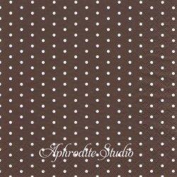 Mini Dots ダークブラウン ドット 水玉 1枚 バラ売り 33cm ペーパーナプキン デコパージュ HOME FASHION