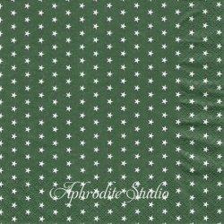 Mini Stars グリーン 星 スター 1枚 バラ売り 33cm ペーパーナプキン デコパージュ HOME FASHION