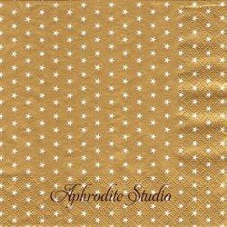 Mini Stars ゴールド 星 スター 1枚 バラ売り 33cm ペーパーナプキン デコパージュ HOME FASHION