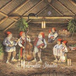 北欧 レナ・ピーターソン Nisser Band ニッセの音楽隊 クリスマス 1枚 バラ売り 33cm ペーパーナプキン HOME FASHION