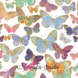 Golden butterflies 金色の綺麗な蝶 1枚 バラ売り 33cm ペーパーナプキン Paper+Design