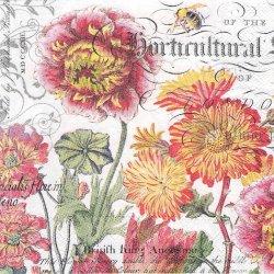 BLOOMS & BEES お花とミツバチ 1枚 バラ売り 33cm ペーパーナプキン デコパージュ MICHEL DESIGN WORKS