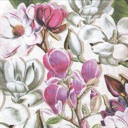 MAGNOLIA いっぱいのマグノリアの花 木蓮 1枚 バラ売り 33cm ペーパーナプキン デコパージュ MICHEL DESIGN WORKS