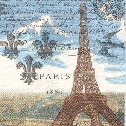 PARIS パリのエッフェル塔 1枚 バラ売り 33cm ペーパーナプキン デコパージュ MICHEL DESIGN WORKS