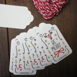 紙製 ペーパーギフトタグ 8枚セット クリスマス プレゼント ギフトラッピングに 材料