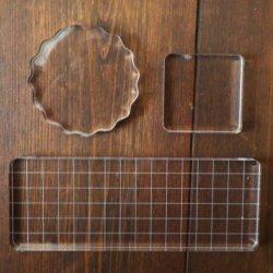 【お選び下さい】アクリルスタンプ ブロック クリアタイプ パッド スクラップブッキング DIY ハンドメイド