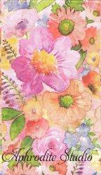 33x42cm パンチスタジオ Fresh Spring Garden 綺麗なピンクオレンジの花 1枚 バラ売り 33cm ペーパーナプキン ゲストタオル Punch Studio