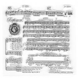 クリアスタンプ 楽譜 ミュージックスコア 13x13cm