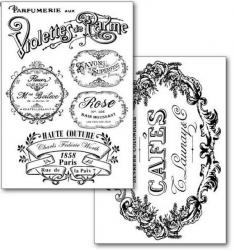 商用販売可能 スタンペリア トランスファーペーパー 2枚セット Violettes de Parme デコパージュシート DFTR068 STAMPERIA