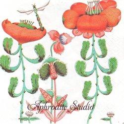 北欧 24cm 廃盤 イッタラ KORENTO オレンジ コレント 1枚 バラ売り ペーパーナプキン iittala