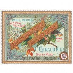 フランス 香水ラベル 【白いライラック】1930年代 アンティーク パフュームラベル