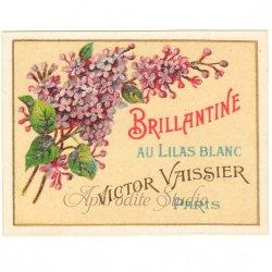 フランス 香水ラベル 【紫のライラック】1930年代 アンティーク パフュームラベル
