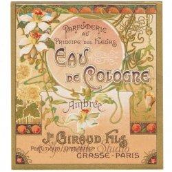 フランス 香水ラベル 【百合】1930年代 アンティーク パフュームラベル