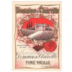 【お城 赤 お酒のラベル】1950年代 ヴィンテージ ラベル コラージュ、ラッピングに