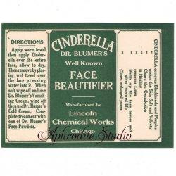 【シンデレラ 化粧水のラベル】1950年代 ヴィンテージ ラベル コラージュ、ラッピングに