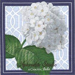 25cm CASKATA STUDIO TRELLIS HYDRANGEA トレリスと紫陽花  1枚 バラ売り ペーパーナプキン Ihr