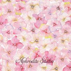Small Blossoms ピンクの紫陽花 1枚 バラ売り 33cm ペーパーナプキン Paper+Design