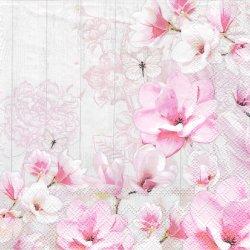MAGNOLIA GARDEN 木蓮の庭 ピンク 1枚 バラ売り 33cm ペーパーナプキン Ambiente