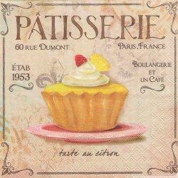 PATTISSERIE パティスリー カップケーキの看板 1枚 バラ売り 33cm ペーパーナプキン Ambiente