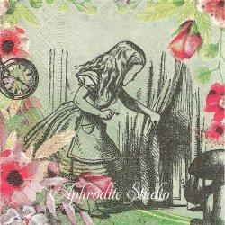 25cm 不思議の国のアリス   1枚 バラ売り ペーパーナプキン